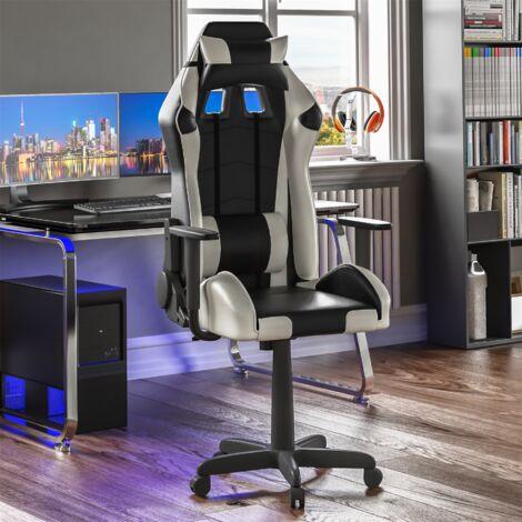 Nitro Racing Gaming Chair, White & Black