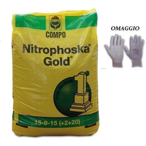 Nitrophoska Gold Concime A Lenta Cessione Per Piante - Prato 25kg Compo