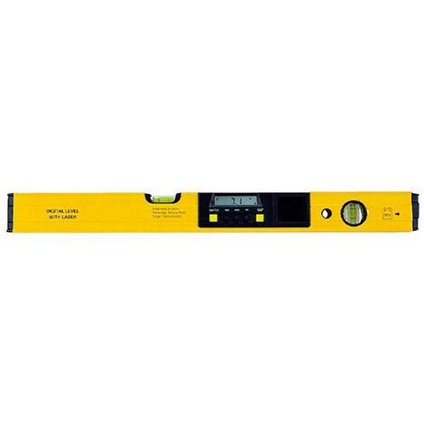 Niveau digital degrés et % + laser L. 60 cm - -