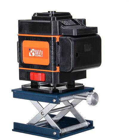 Niveau Laser 3D Mesure auto 12 Lignes Lumière Verte avec Support de Levage Télécommande sans fil