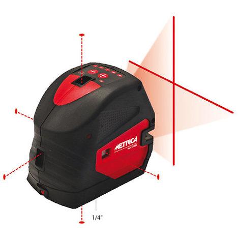 Niveau laser automatique en croix et 5 points - Rouge
