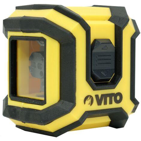 Niveau laser de chantier en croix horizontale et verticale VITO POWER - Portée de 10 m Précision 0,5 mm -