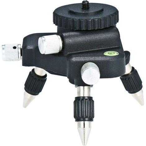 Niveau Laser de Trepied, KKmoon Niveau Laser Support, Support de Dispositif de Laser Level, Base Pivotante Magnétique pour Calibrage Automatique de Niveau Laser 360°, Support de Niveau Laser