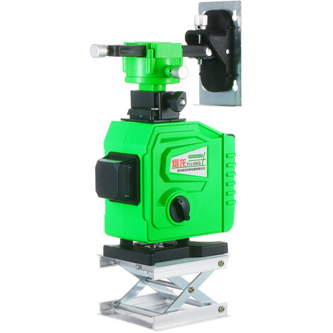 Niveau Laser Outil 3¡Á360 ¡ã Vert Faisceau Autolissant 98Ft Horizontale Et Verticale Et Cross Niveau Laser Etanche Ip54 Exterieur Laser Nivellement Outil Avec 2 Batterie Rechargeable
