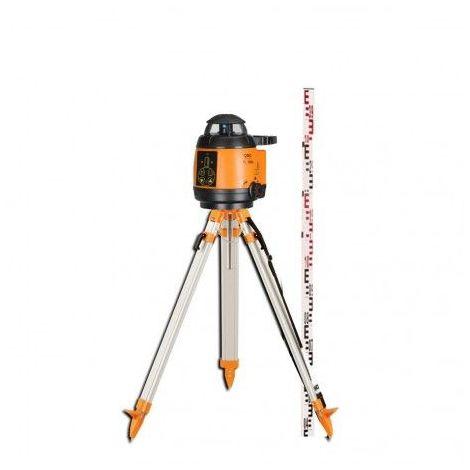 Niveau Laser Rotatif Automatique Geofennel Fl 180a - Cellule, Trépied Et Mire