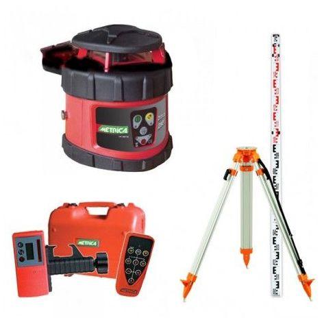 Niveau Laser Rotatif Automatique Metrica Rotativo H - Pack Trépied Et Mire