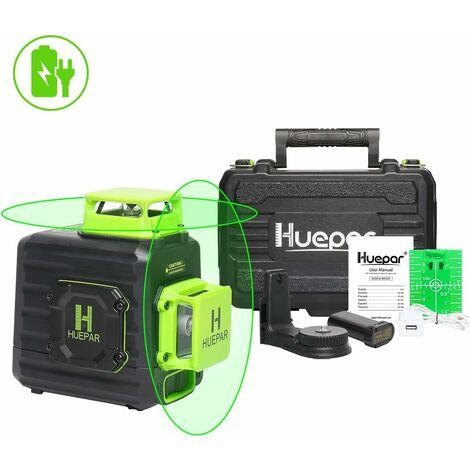 Niveau Laser Vert à 2 x 360 avec Batterie Rechargeable Huepar B02CG