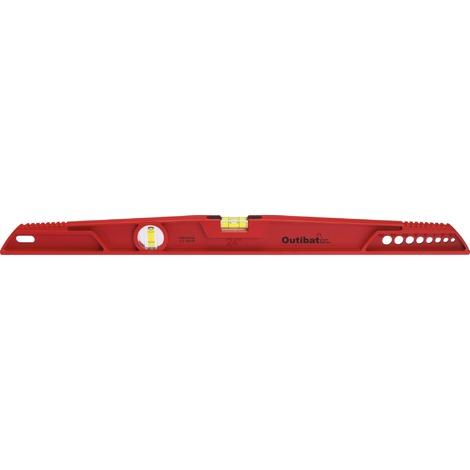 Niveau trapèze antichoc Outibat - Longueur 60 cm - Rouge