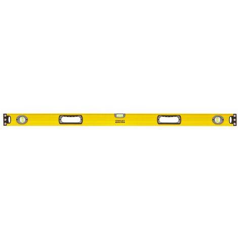 Niveau tubulaire Fatmax aluminium - 3 fioles - 23 poignées - Précision 0,5mm/m - STANLEY