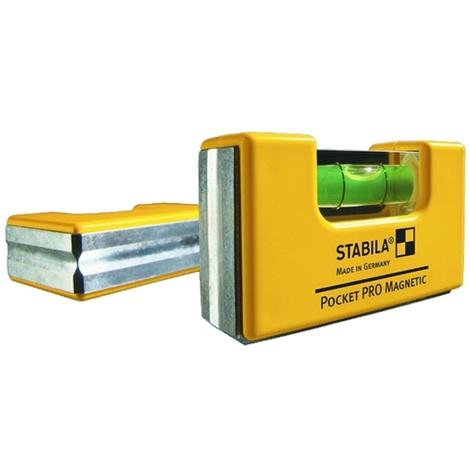 Nivel Burbuja Mini Pro + Clip - Stabila Pocket - 177683 - 70X18X40Mm