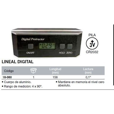 Nivel digital 158mm 18-060 ACHA