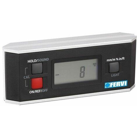 Nivel digital inclinómetro y goniómetro con imán FERVI