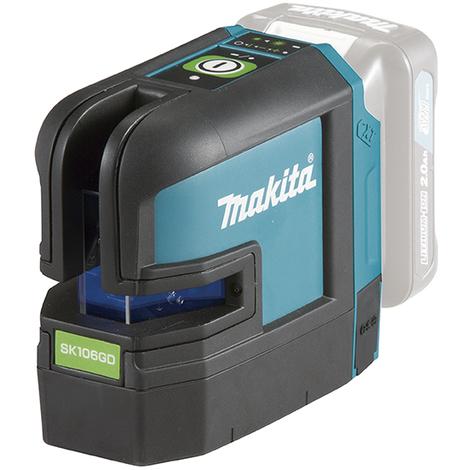 Nivel láser en cruz a batería de 10,8 V CXT de 4 puntos y línea verde MAKITA SK106GDZ