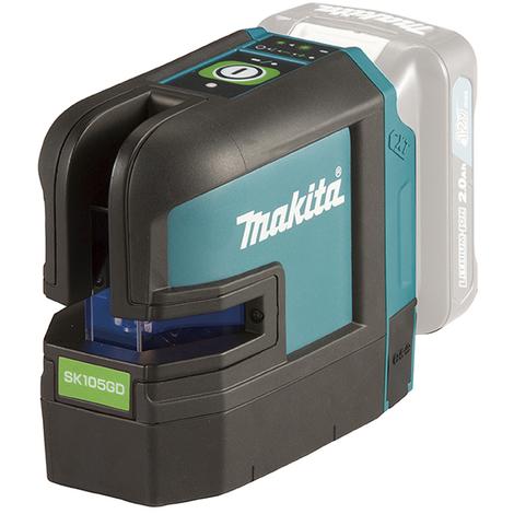 Nivel láser en cruz a batería de 10,8 V CXT Línea verde MAKITA SK105GDZ