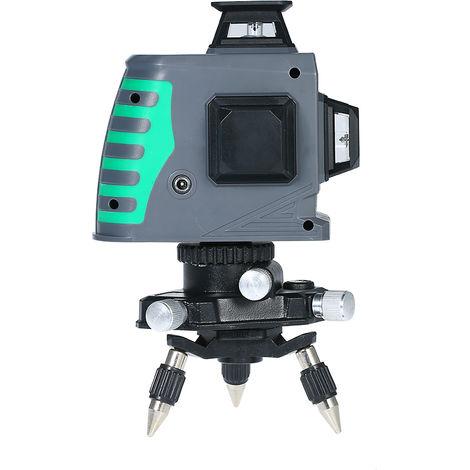 Nivel laser, medidor de nivel laser de luz verde de 12 lineas, con base pivotante