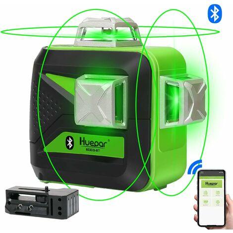 "main image of ""Nivel Láser Verde 3x360 con Bluetooth & MODO DE PULSO Huepar 3D 603CG-BT"""