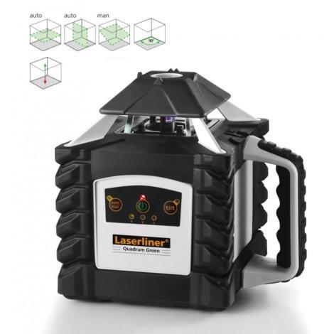 Nivelador Láser Rotativo verde Quadrum G410S + Trípode + Mira Flex