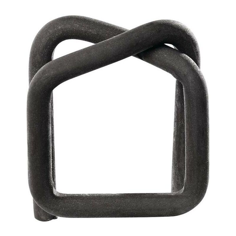 No-Name-Produkt Agrafe l. 16 mm acier pour bandes de cerclage PES phosphaté