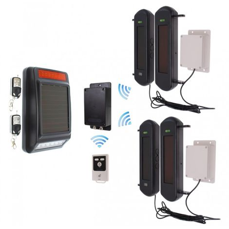 No Power Required 3G GSM Wireless Perimeter Alarm with Siren Kit 2
