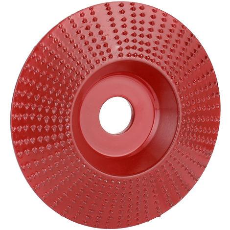 NO.45 de madera de acero de molienda angulo de la rueda de lijado herramienta de talla Rotary abrasivo del disco de amoladora angular con agujero 16 mm, las fechas rojas
