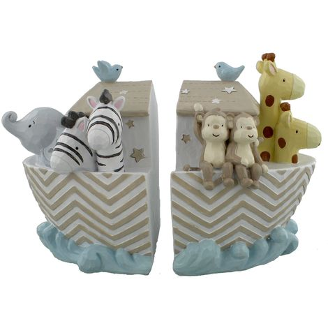 Noah's Ark Resin Set of 2 Bookends
