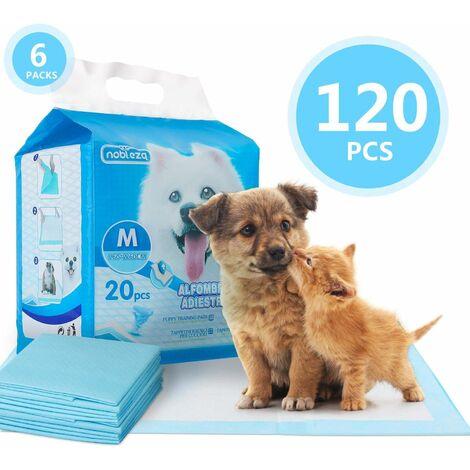 Nobleza Lot de 120 tapis de dressage hygiénique pour chien Ultra absorbant 60 x 60 cm.