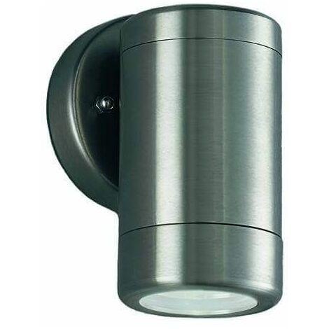 "main image of ""Nocturn 1 Light Bulb Stainless Steel Garden Wall Light"""