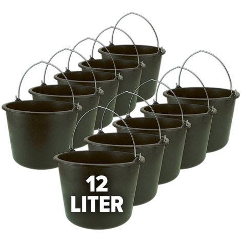 Nölle Eimer, Baueimer, Putzeimer, Mörteleimer mit Henkel 10er Set - 12 oder 20 Liter