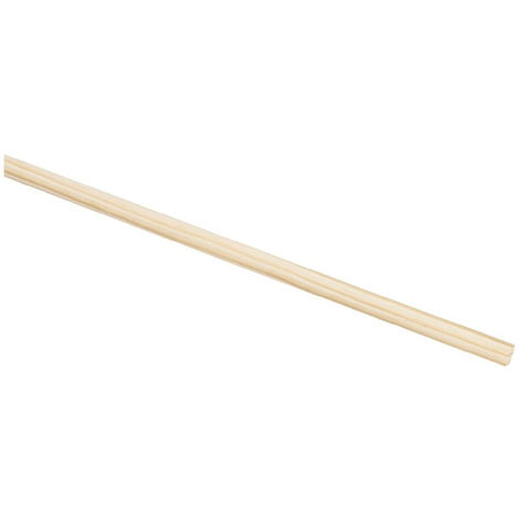 Nölle Holzbesenstiel 24 mm 160 cm, Rundkopf