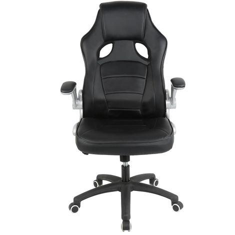 noir chaise de manager confortable fauteuil de bureau. Black Bedroom Furniture Sets. Home Design Ideas