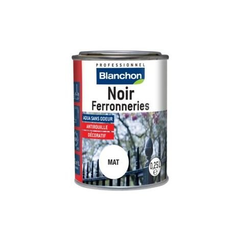 Noir ferronneries- finition antirouille - Blanchon - 0.25L - Noir / Ebène
