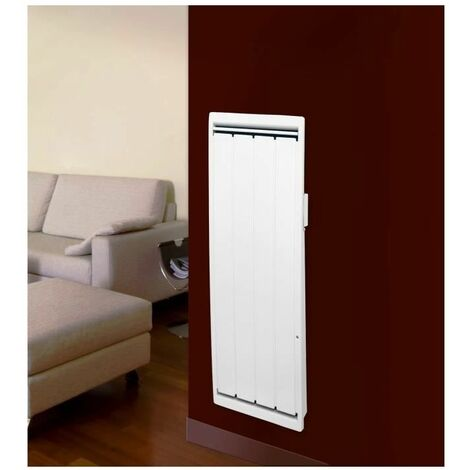 NOIROT Calidou Plus - 1000 watts - Radiateur a véritable inertie fonte + film chauffant - Entierement programmable - Format Vertical