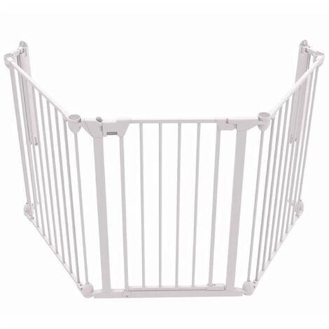 Noma 3-Panel Safety Gate Modular Metal White 94054 - White