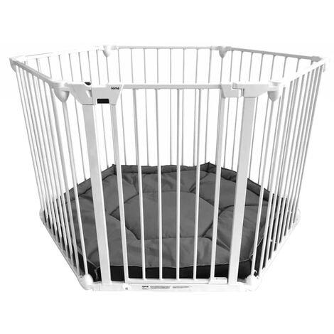Noma 6-Panel Safety Gate/Playpen Modular Metal White 94023 - White