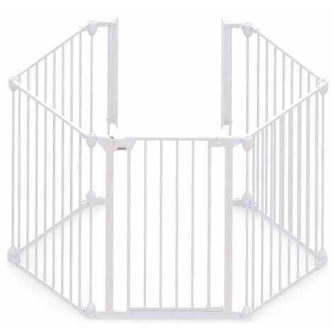 Noma Barrière de sécurité à 5 panneaux Modular Métal Blanc 94047