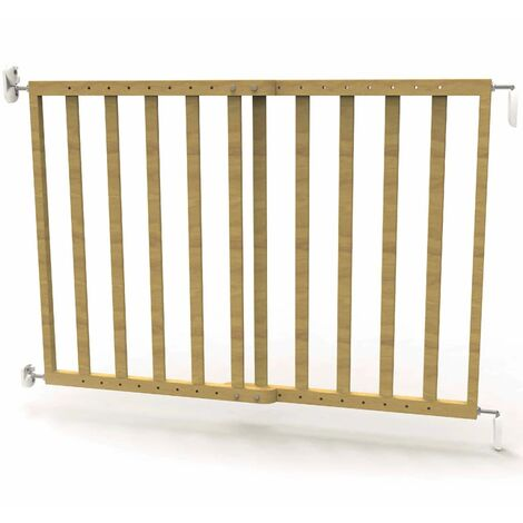 Noma Extending Safety Gate 63.5-106 cm Wood Natural 93729 - Brown