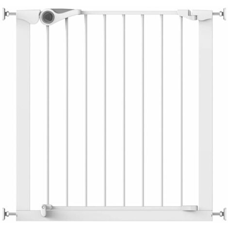 Noma Safety Gate Easy Pressure Fit 75-82 cm Metal Security Barrier White/Black