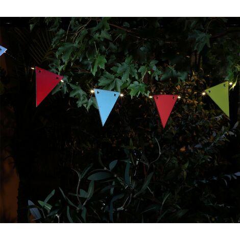 Noma Solar 30 LED String Garden Lights & Vintage Metal Bunting 7320001
