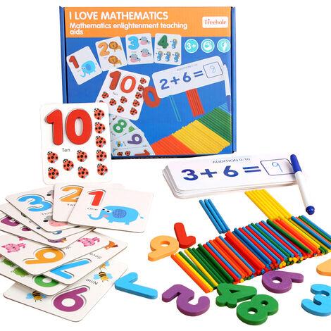 """main image of """"Nombre D'Apprentissage Correspondant Jeu Puzzle Nombre Flash Cards Addition Et Soustraction Exercice Stem Jeu Pour Age 4-6 Garcons Et Filles"""""""