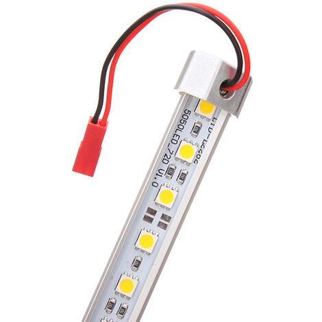 Non étanche 50CM 9W en aluminium en forme de V DC 12V 36 barre de lumière LED 5050 SMD LED bande rigide lumière blanc chaud