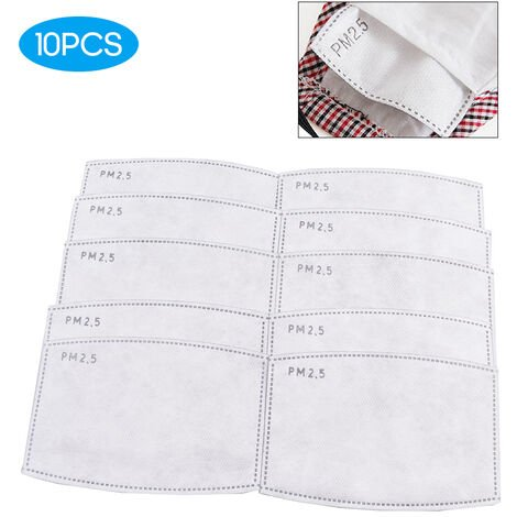 [Non medical] 10 pieces element filtrant de masque PM2.5 papier filtre 5 couches joint de masque filtrant puissant