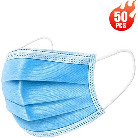 [Non medical] Masque de protection jetable Tissu non tisse a trois couches 50 pcs / boite