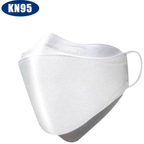 [Non medical] Masque filtrant KN95 Filtre a 95%, pince-nez reglable, masque de protection a quatre couches, particules de poussiere douces, respirantes et anti-chute (20 pieces / paquet)