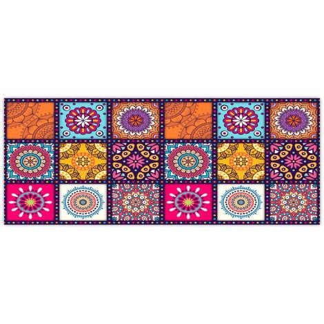 Non-slip Bohemian Style Floral Pattern Rug Floor Mat Living Room Carpet