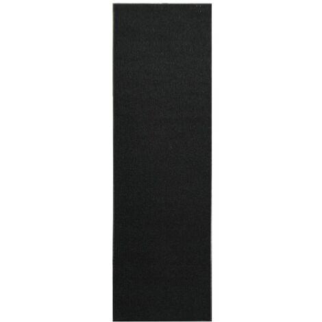 Non-slip Doormat Runner with Vinyl Backing 1.2x10 m Black