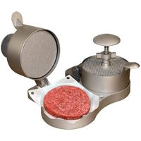 Non-stick Adjustable Double Burger Press with Ejector