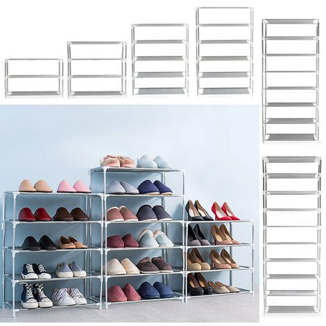 Non-woven Fabric Tall Shoe Rack Storage Shoes Large Space Organizer