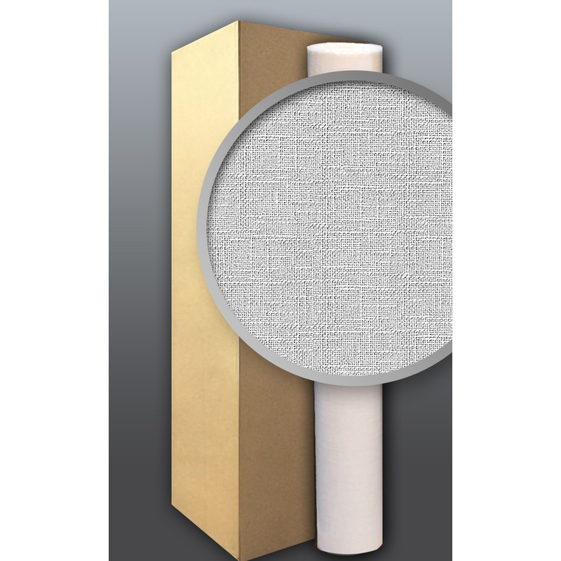 Image of Non-woven textured EDEM 301-60 wallpaper wall paintable fabric look white 1 ct. 4 rolls 106 sqm (1140 sq ft)