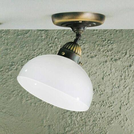 NONNA antique brass ceiling light 1 bulb in matt glass