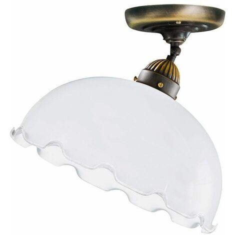 NONNA antique brass ceiling light 1 glass bulb